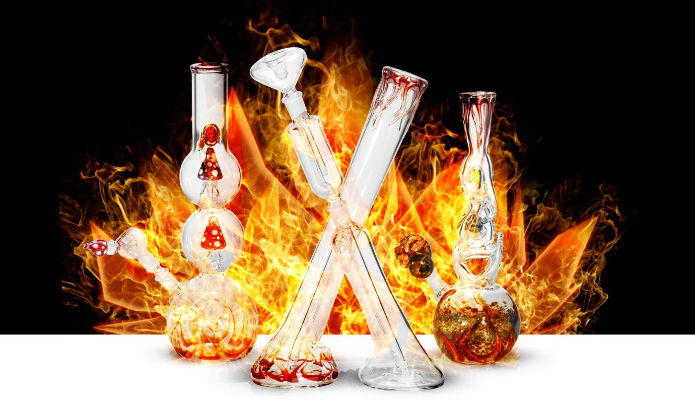 Glass Bongs & Glass Water Pipes at My-Burn.com