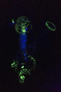 New Octopus Bubbler under UV lamp