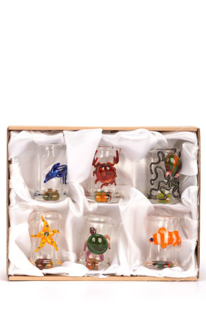 My-Burn.com Coast Collection Grappa Glasses in Box