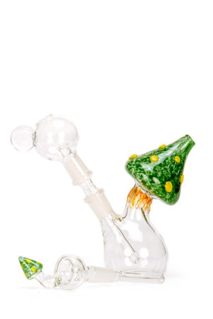 My-Burn.com Green Mushroom Oil Pipe Set