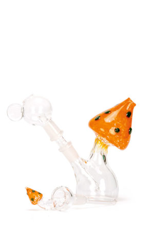 My-Burn.com Orange Mushroom Oil Pipe Set