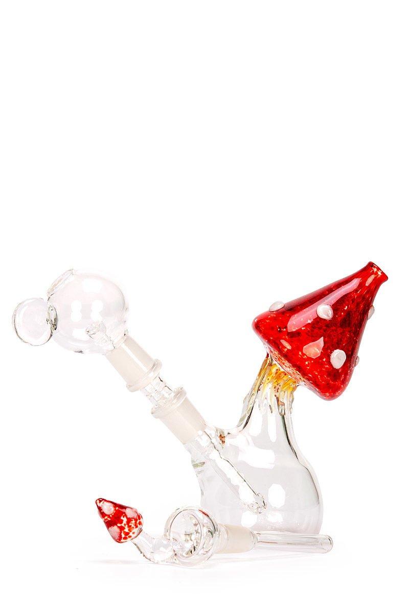 My-Burn.com Red Mushroom Oil Pipe Set