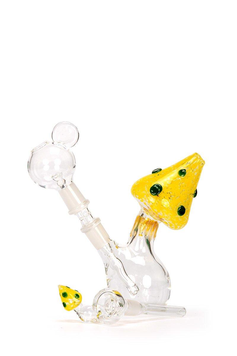 My-Burn.com Yellow Mushroom Oil Pipe Set
