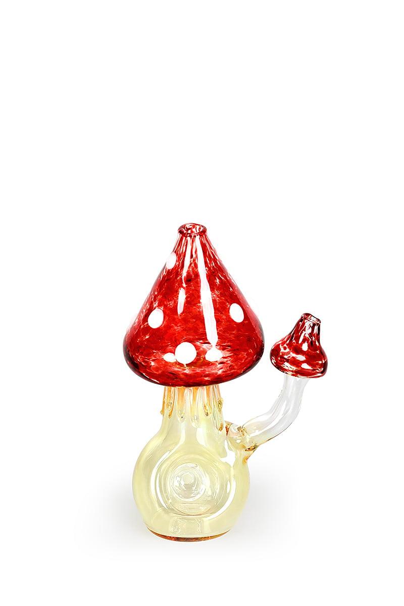 Red Mushroom Glass Pipe