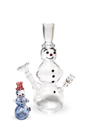 Bong with Spoon Snowmen set